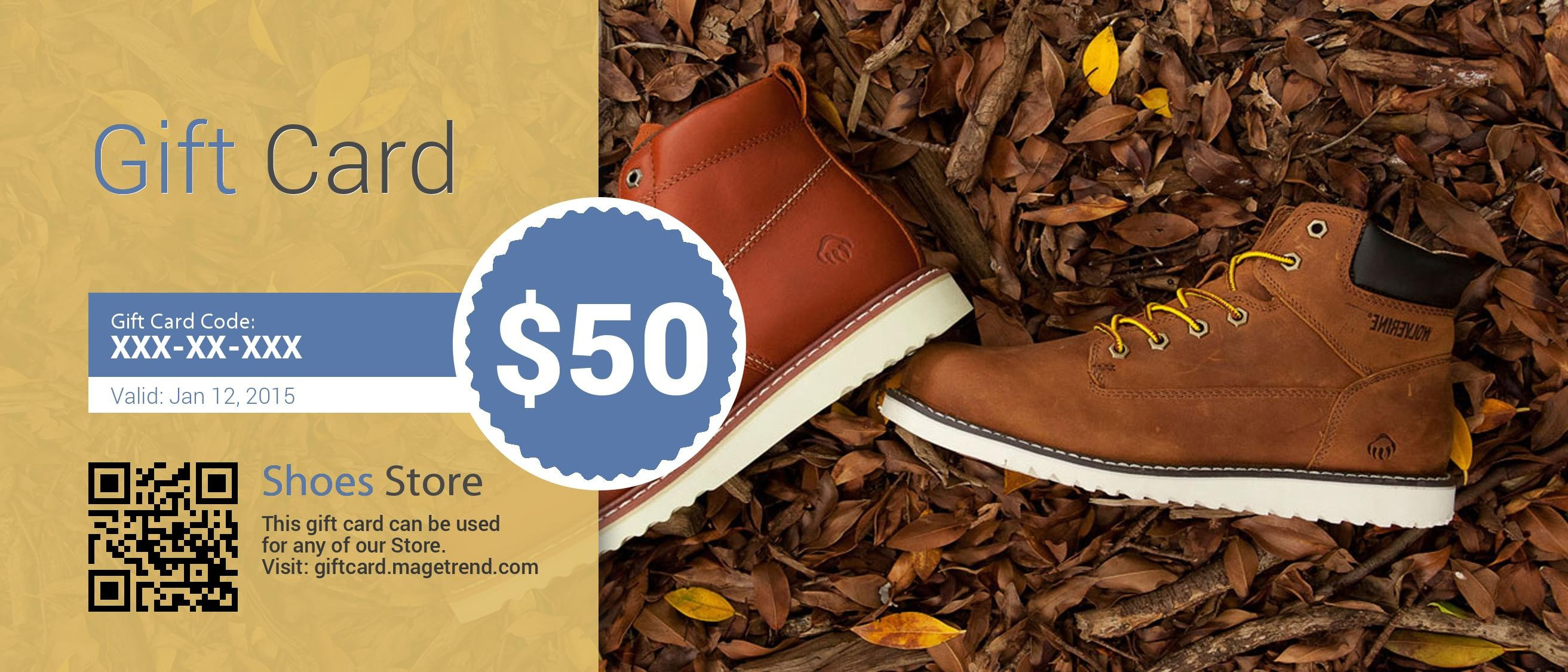 Shoes Store Gift card (Virtual)